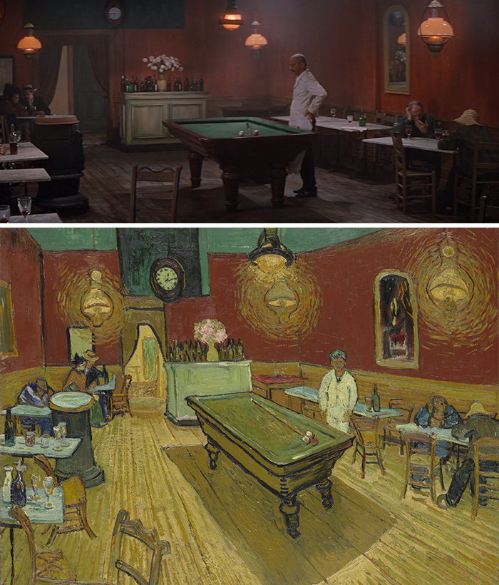 Movie: Lust For Life (1965) vs. Painting: Le Café De Nuit (1888)
