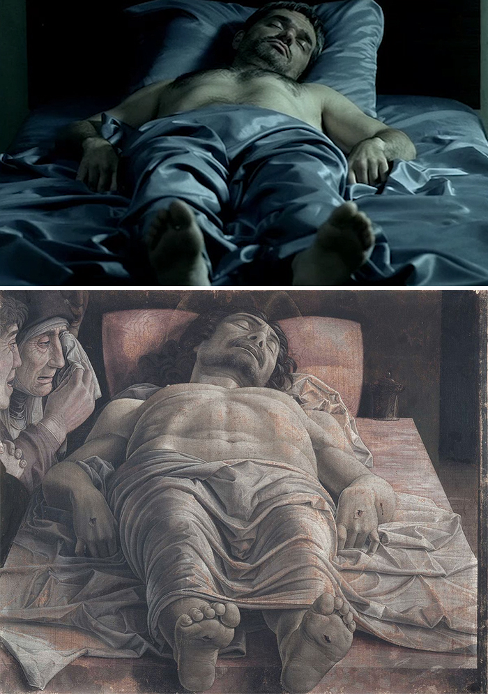 Movie: The Return (2003) vs. Painting: Lamentation of Christ (1475-1490)