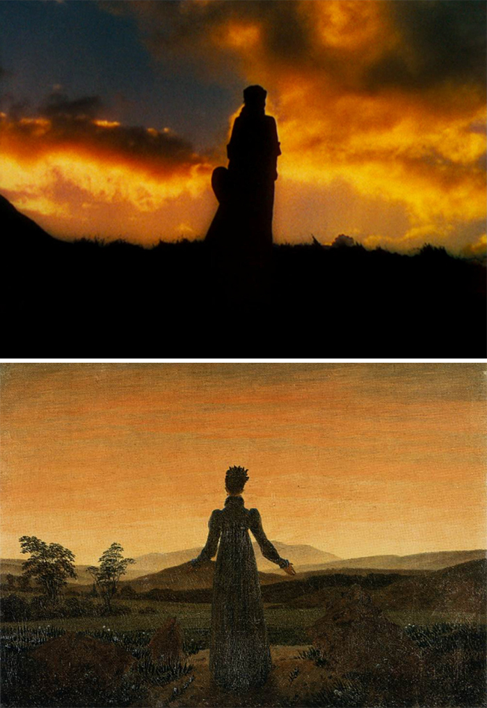 Movie: Gone With The Wind (1939) vs. Painting: Woman Before The Rising Sun (1818-1820)