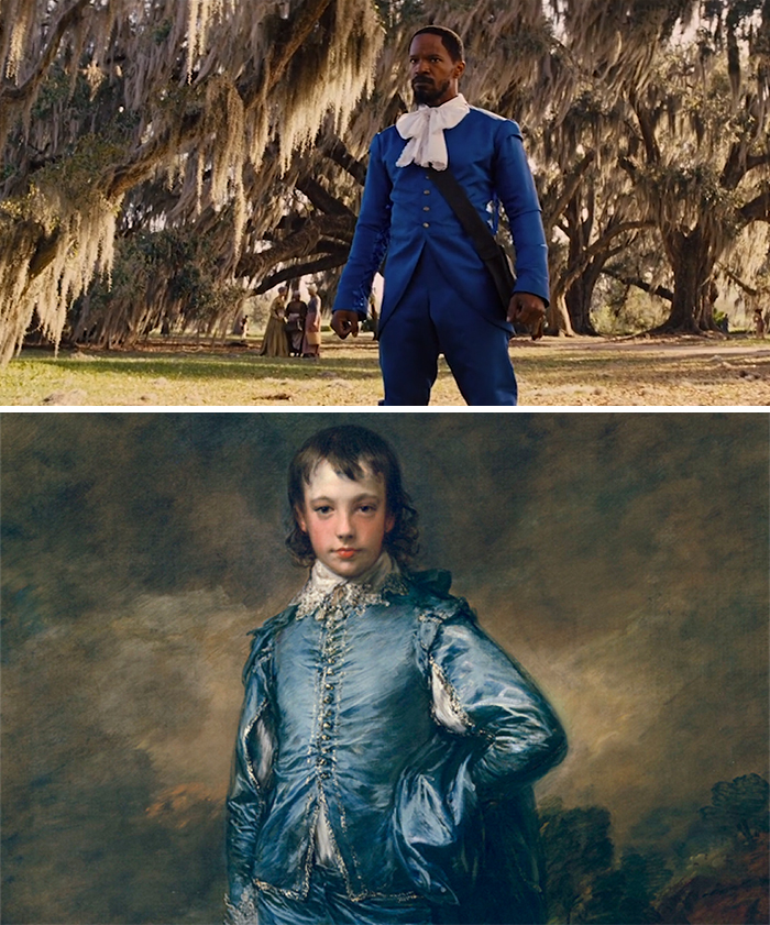 Movie: Django Unchained (2012) vs. Painting: The Blue Boy (1770)
