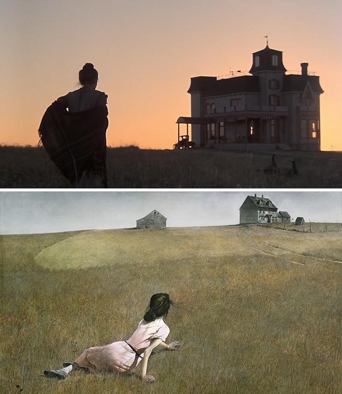 Movie: Days Of Heaven (1978) vs. Painting: Christina's World (1948)