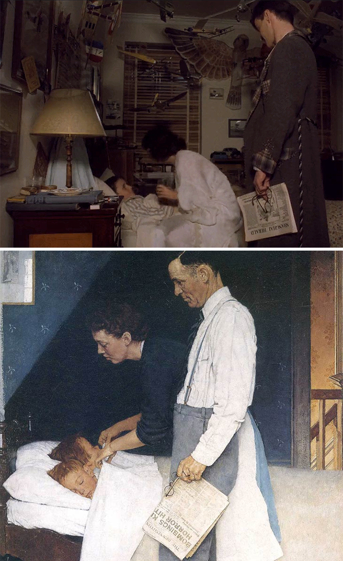 Movie: Empire Of The Sun (1987) vs. Painting: Freedom From Fear (1943)
