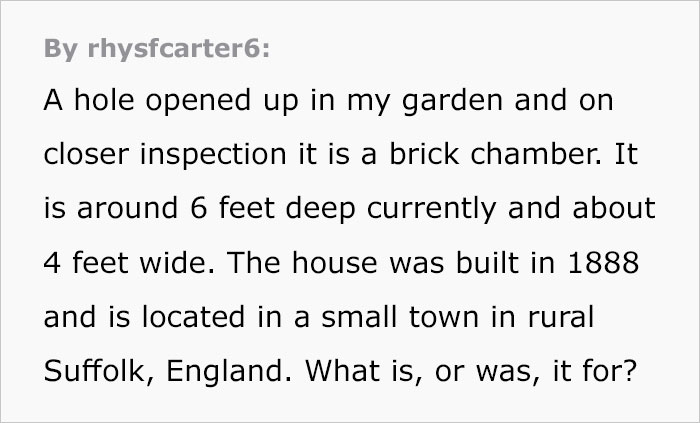 Guy Asks The Internet To Help Identify A Hole That Appeared In His Garden, Probably Wishes He Didn't