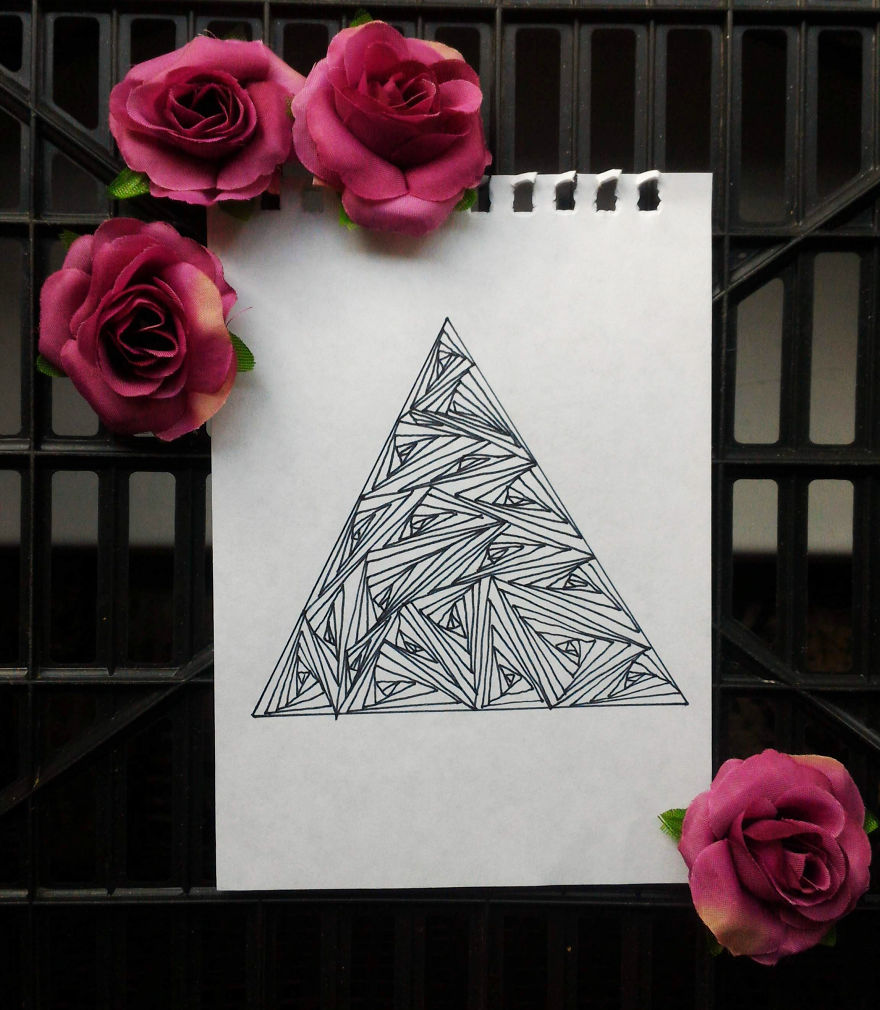 optical illusion patterns drawing triangles rectangles these bored easily pattern panda