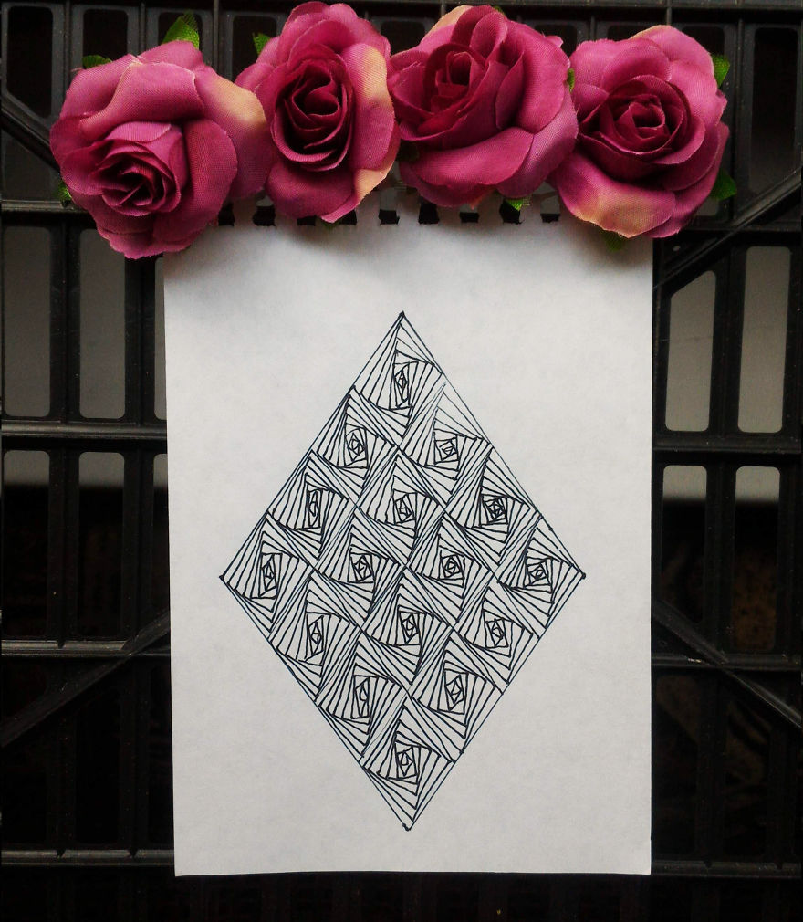 optical illusion patterns drawing triangles these rectangles easily pattern rectangle triangle bored