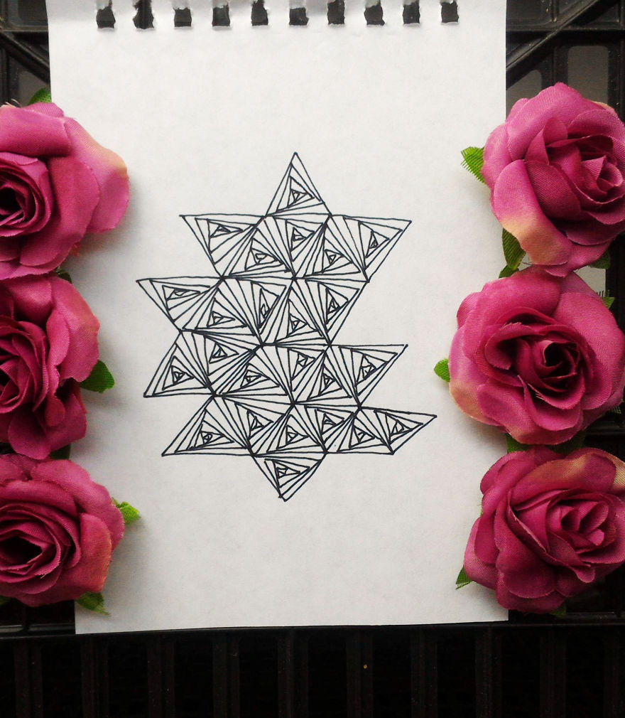 optical illusion drawing patterns triangles these rectangles easily pattern community