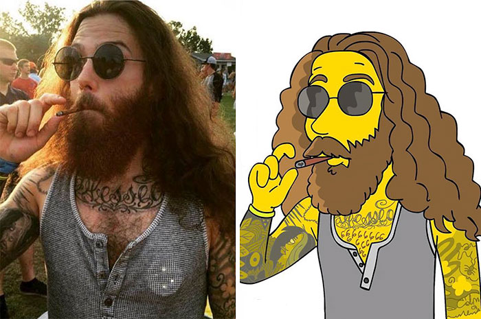 Artist Turns People Into Simpsons And Everyone Is Loving It
