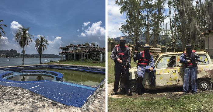 Pablo Escobar's Abandoned Mansion Is Turned Into A Paintball