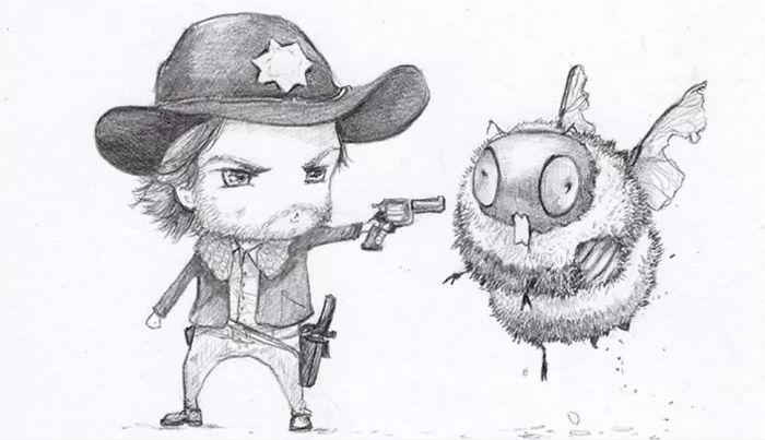Walking Dead Zombees Rick