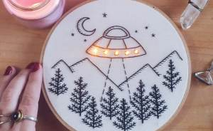 "I ""Light Up"" My Embroidery Works Inspired By Night And Stars"