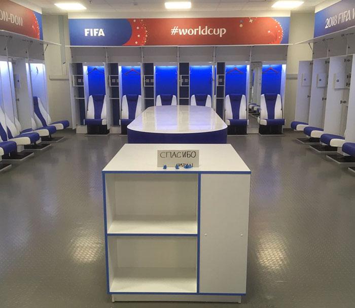 Tras perder con Bélgica, el equipo japonés limpió todo el vestuario y dejó una nota dando las gracias en ruso