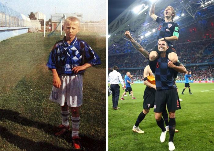 Luka Modric creció en un campo de refugiados en zona de guerra. Le dijeron que era muy pequeño y débil para ser futbolista. Hace poco ha jugado la final del mundial