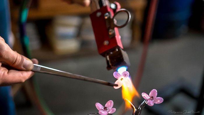 Intricate Jen Violette Glass Sculpting
