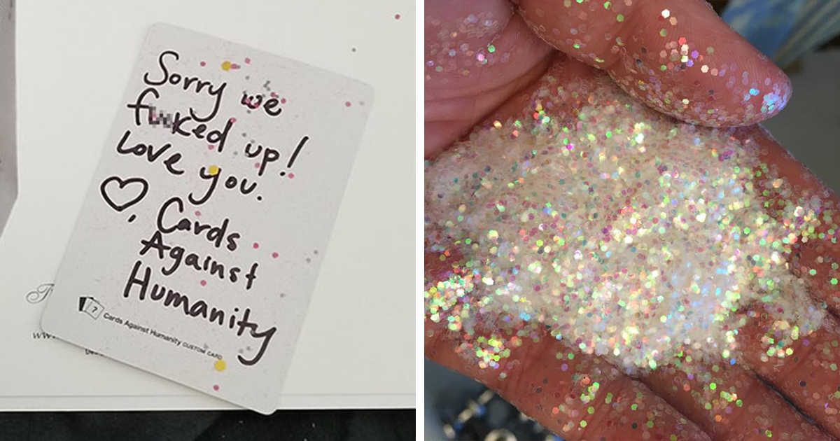 "woman-asks-extra-glitter-cards-against-humanity-kait-johnson-fb6 ""Be Careful What You Wish For"": The Way Cards Against Humanity Responded To This Girl's Complaint Is Hilarious"