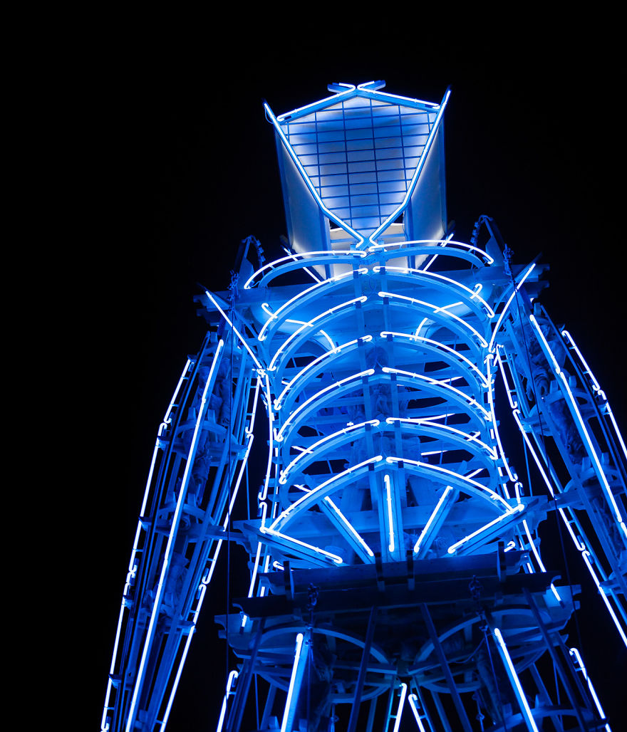 The Man Illuminated At Night, 2006 - Photo By Philip Volkers