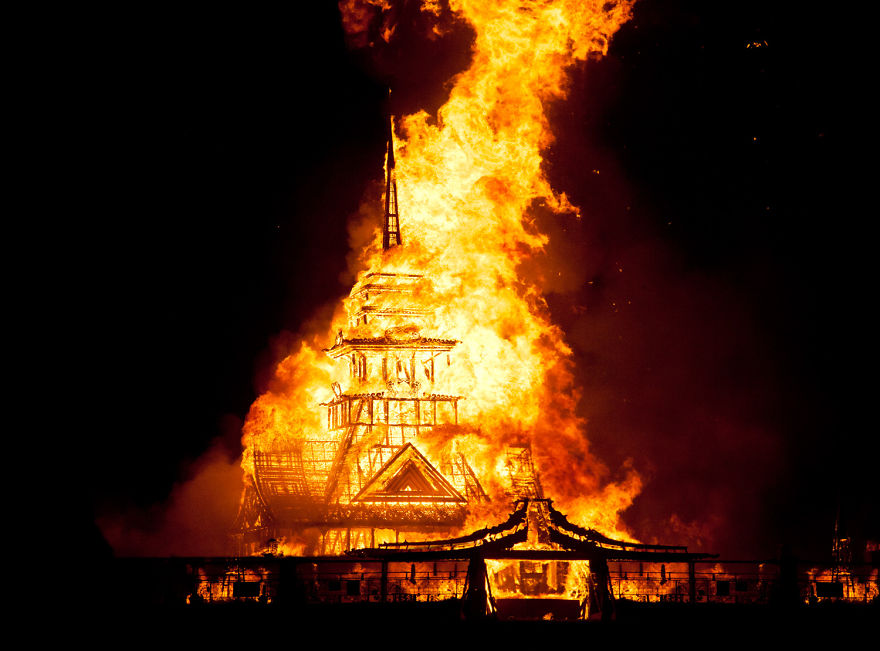 The Temple Of Juno Burning, 2012 - Photo By Philip Volkers