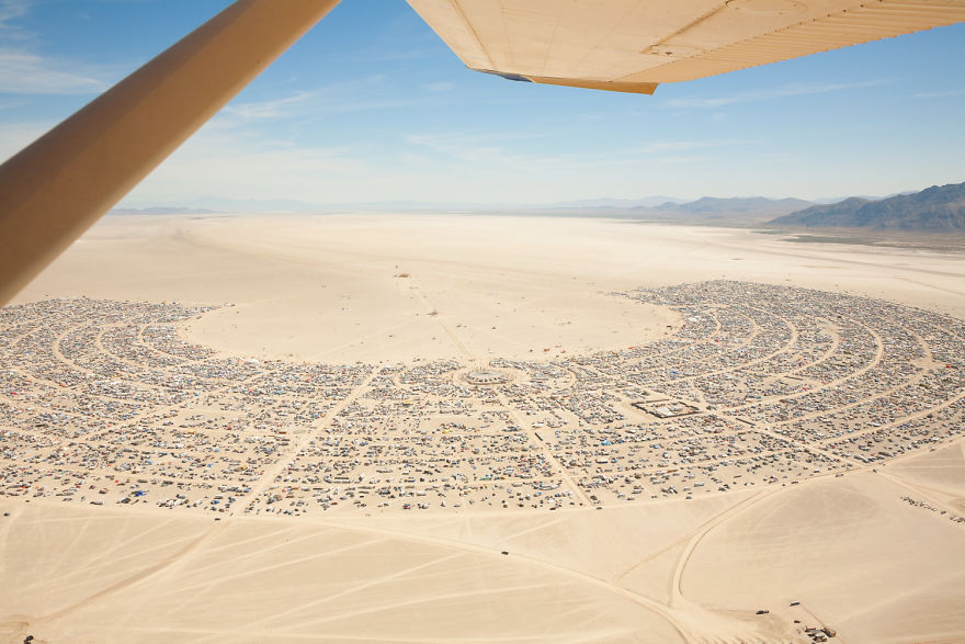 Aerial View Of Black Rock City, 2006 - Photo By Philip Volkers