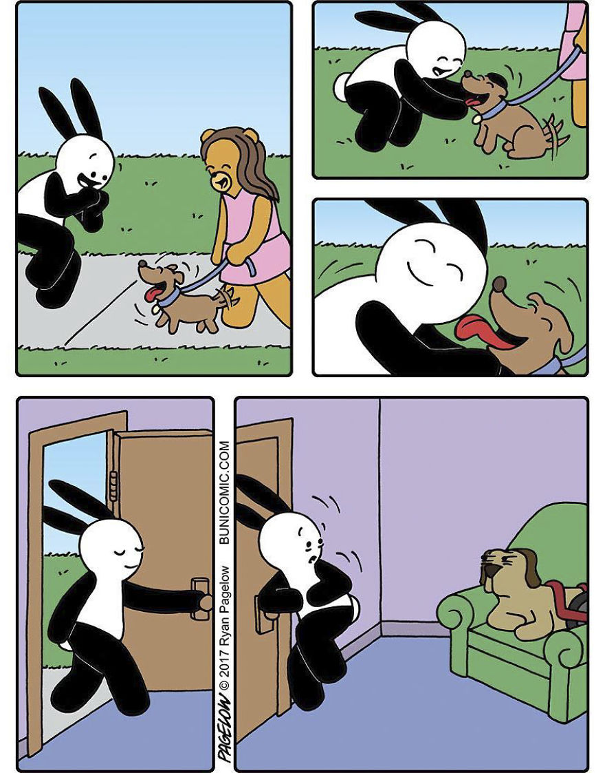 Cartoonist Puts A Cute Bunny In Dark Situations, And We Can't Get Enough