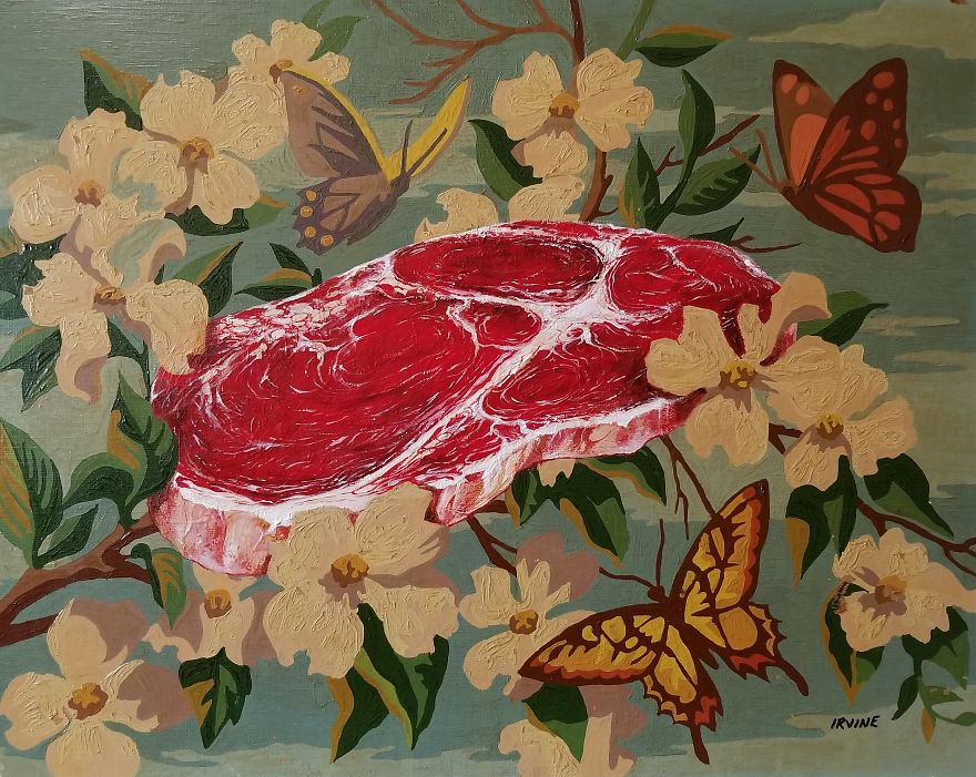 Blossoms, Butterflies And Beef