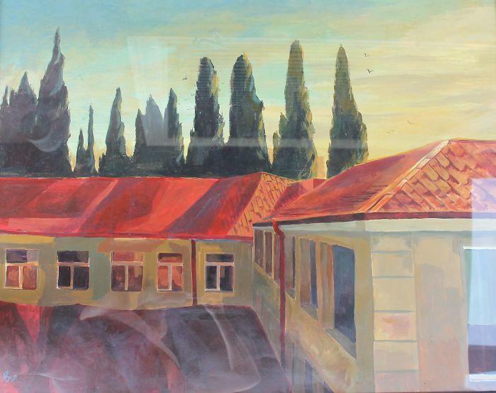 Landscape (Acrylic, Paper 90 X 60 Cm.)