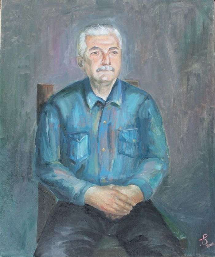 Father (Oil On Canvas 60 X 50 Cm.)