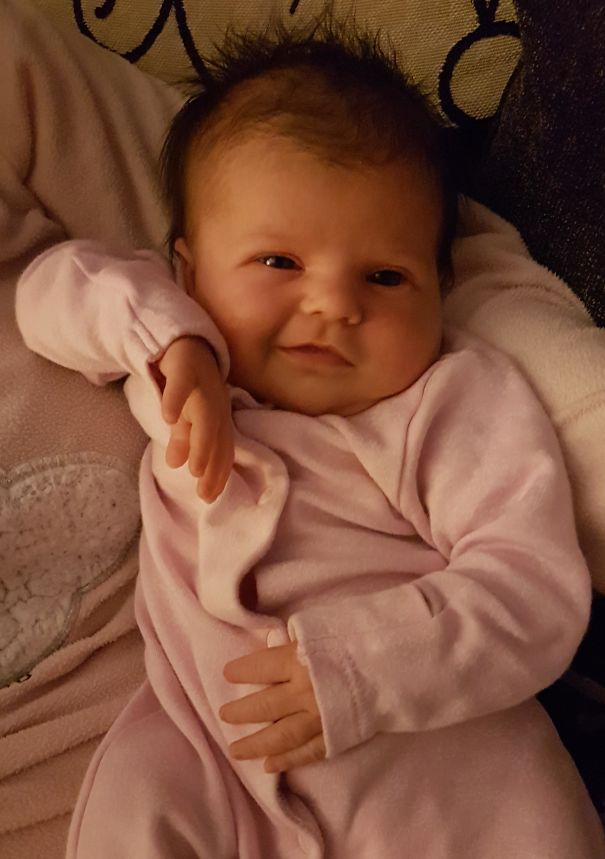 Heyy, How You Doin' (My 2-Week-Old Daughter)
