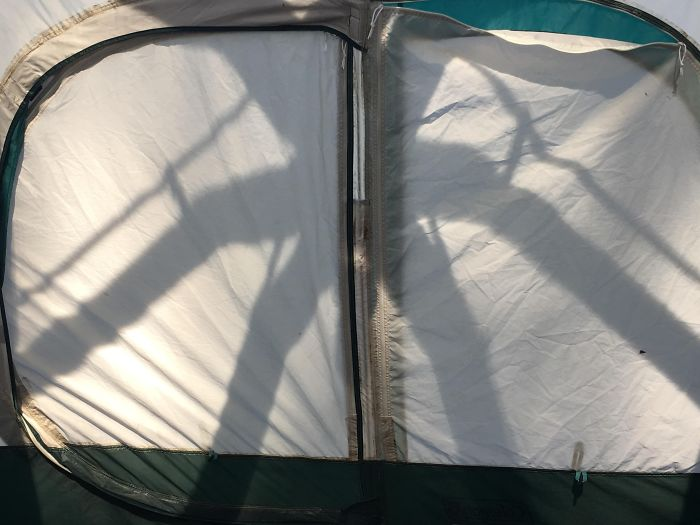 The Shadow Cast From The Roof Of My Tent Makes Me Feel Like I'm In The Upside Down
