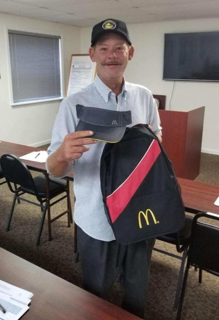After A Year Of Living On The Streets, Phil Has Landed A Job At Mcdonald's — Thanks In Part To The Tallahassee Police Officer Who Gave Him A Shave And Fresh Clothes Before His Interview