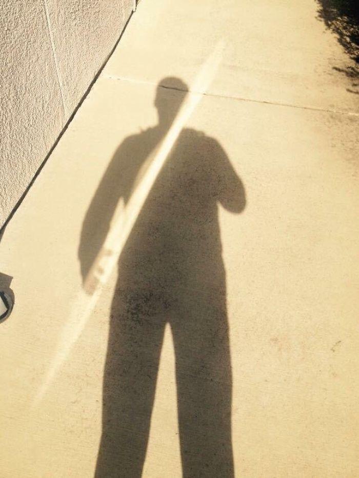 My Shadow Wielding A Spear Of Light