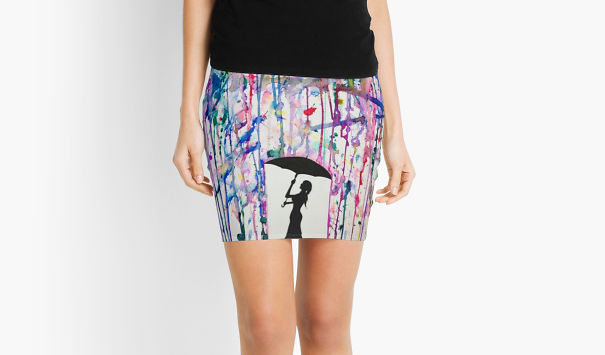 Someone Took My Art And Somehow Decided It Would Look Good On A Mini Skirt