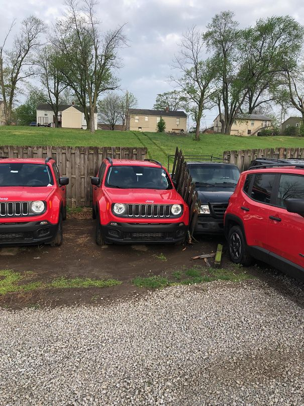 My Buddy Lives Next Door To A Car Dealership And Forgot His Parking Brake