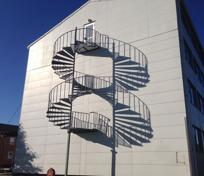 Shadow Gives Impression Of Infinite Staircase