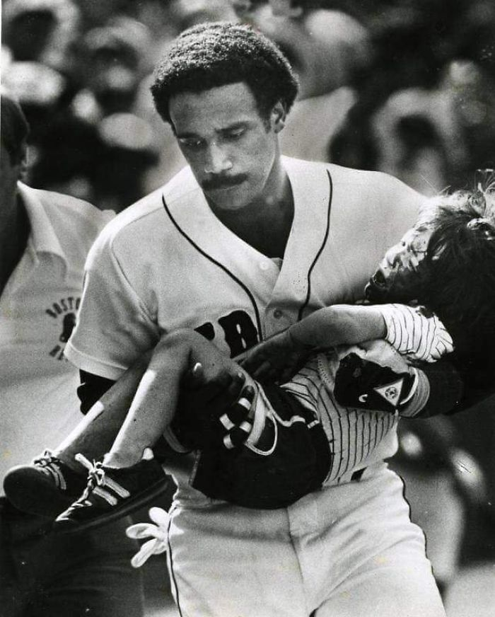 In 1982, A Little Boy Was Hit In The Head With A Screaming Foul Ball, And Rather Than Wait Many Minutes For EMTS To Arrive, Jim Rice Scooped Him Up And Brought Him To The Dugout Where He Got Immediate Medical Attention And Was Quickly Hospitalized. He Is Credited With Saving The Boy's Life