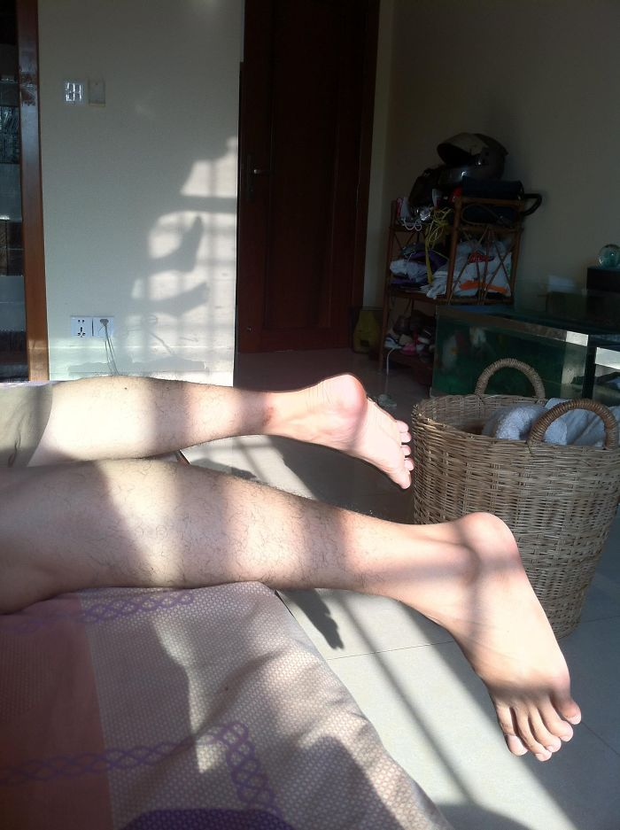 The Shadow Of My Feet Is In The Opposite Direction