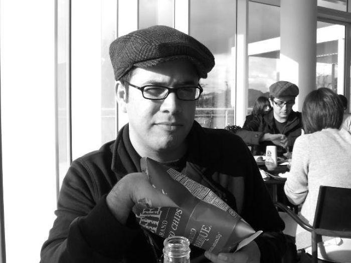 Mi novio y su clon en el museo Getty