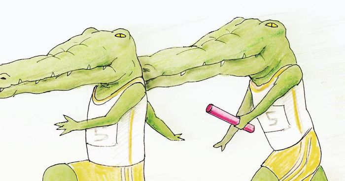 20+ Problems Of A Crocodile Hilariously Illustrated By Japanese Artist Keigo