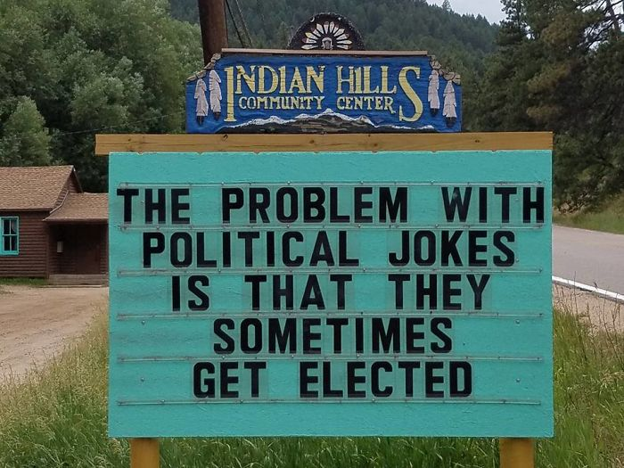 Someone In Colorado Is Putting The Funniest Signs Ever, And