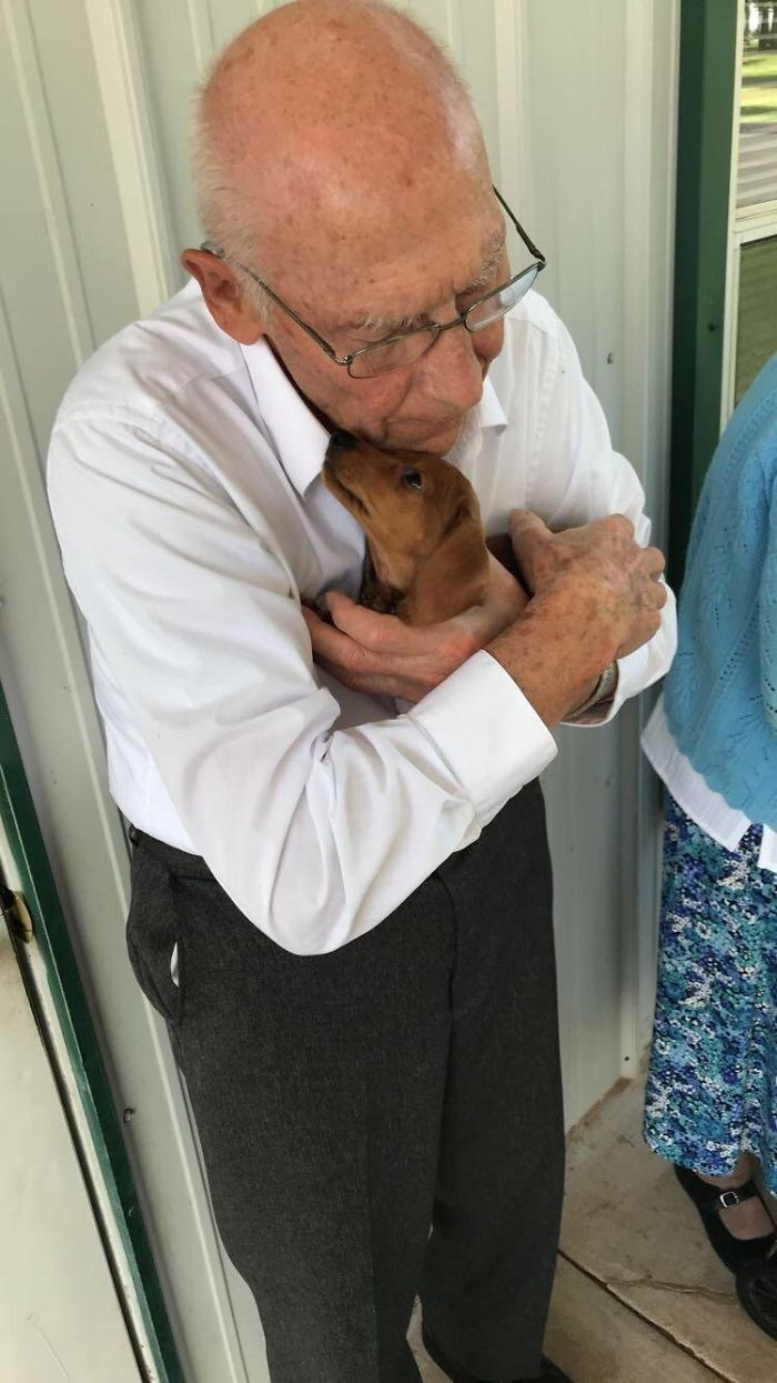 I Took The New Pup To The Nursing Home Next Door. They Instantly Became Best Friends