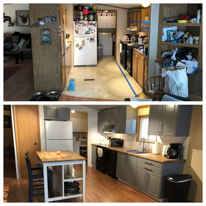 My Dad Worked 3+ Jobs 7 Days A Week To Support Us, He Gave Up Everything For My Brother And I And He Has Had A Rough Last Few Years After My Mother Left Him For His Best Friend. My Husband And I Decided To Renovate His House Ourselves And Finally Just Finished With The Final Room, His Kitchen.