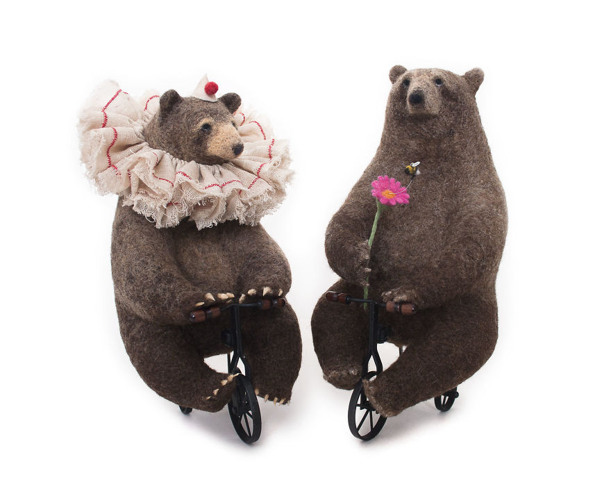 Needle Felted Bears