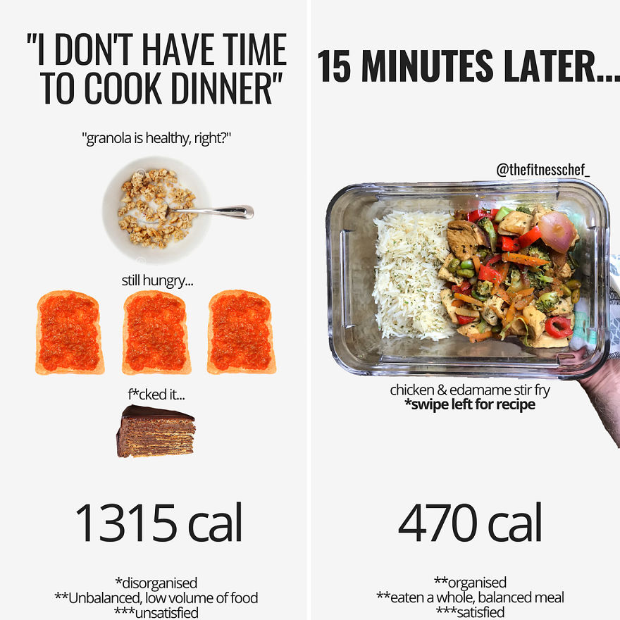 15+ Surprising Food Comparisons From A Nutrition Coach That Destroy Dieting Myths- Do You Agree With Him?