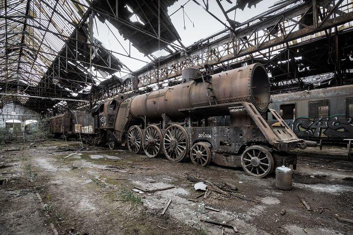Abandoned Soviet Train, Hungary