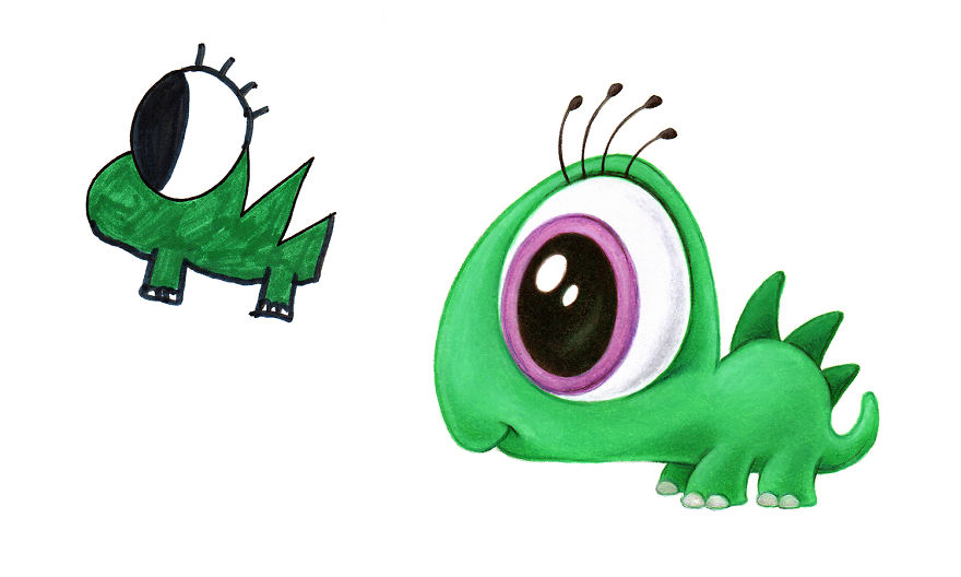 Another 20 Of My Monsters Based On Kid Drawings