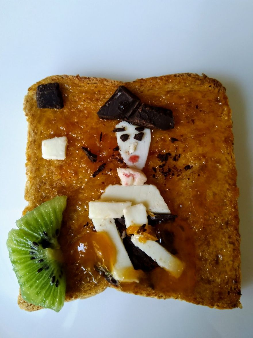 People Are Reproducing Works Of Art In Food And The Result Will Not Let You Eat Them