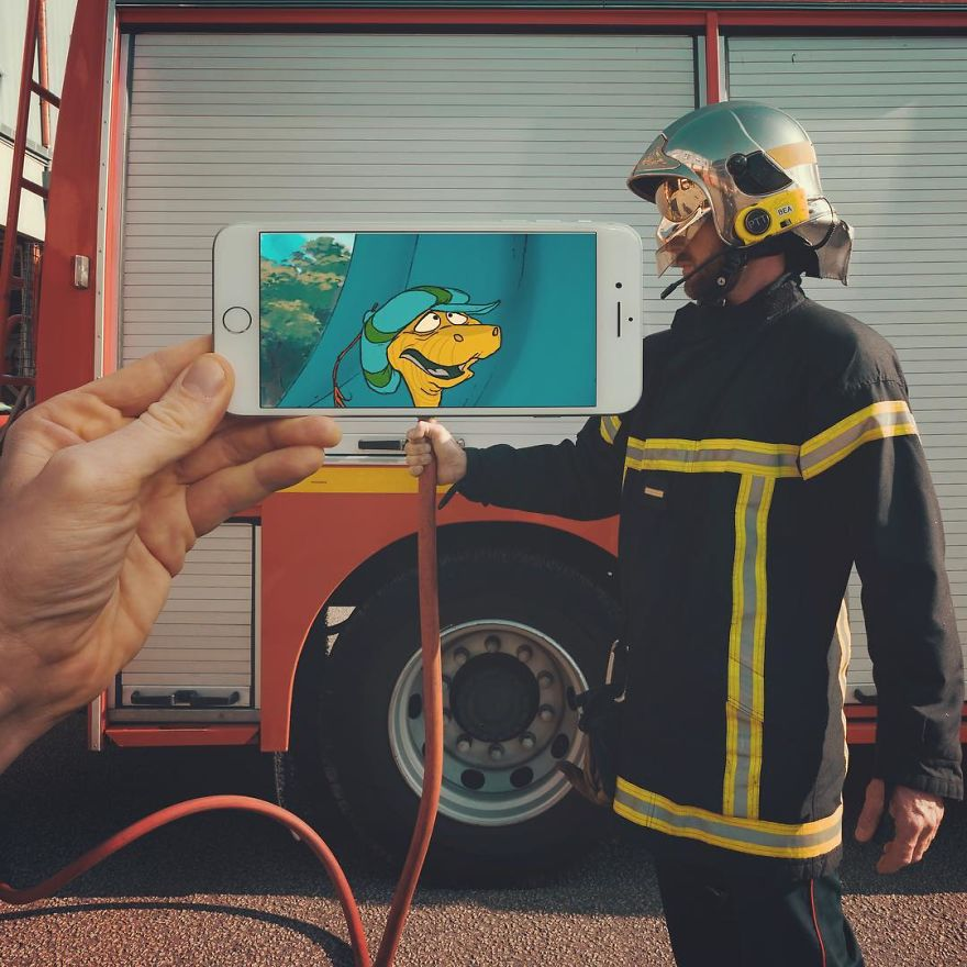 I Mix Iconic Characters And Scenes With The Real Life Using My Iphone