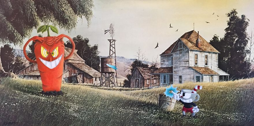 I Take Unwanted Thrift Store Art And Add A Touch Of Whimsy And Pop Culture