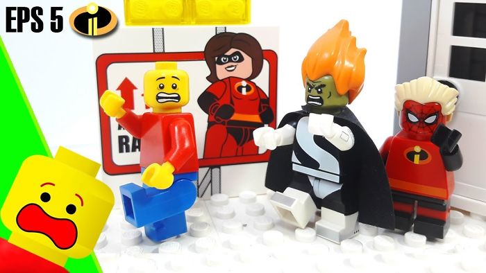 My Latest Stop Motion: Lego Marvel Superheroes In Incredibles 2 Costumes Cartoon For Kids