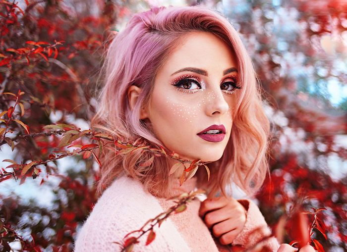 I Create Dreamy Portraits Inspired By Colored Hair And Fairytales