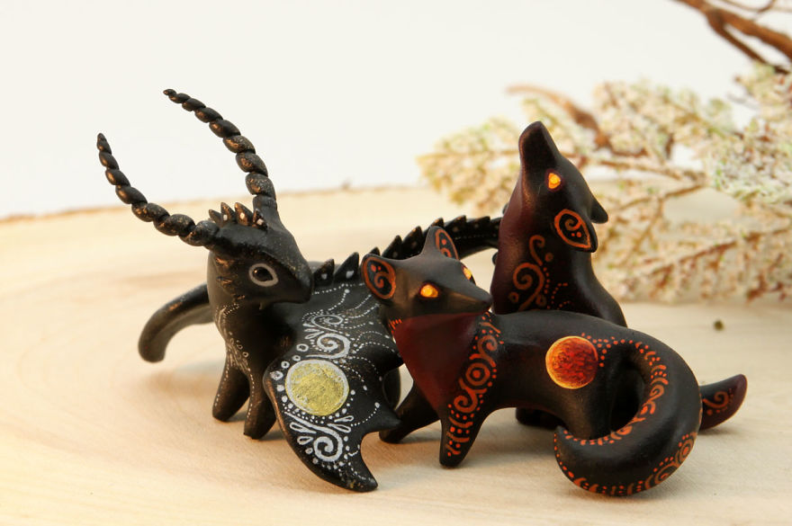 I Made These Animal Figurines In Fantasy Style