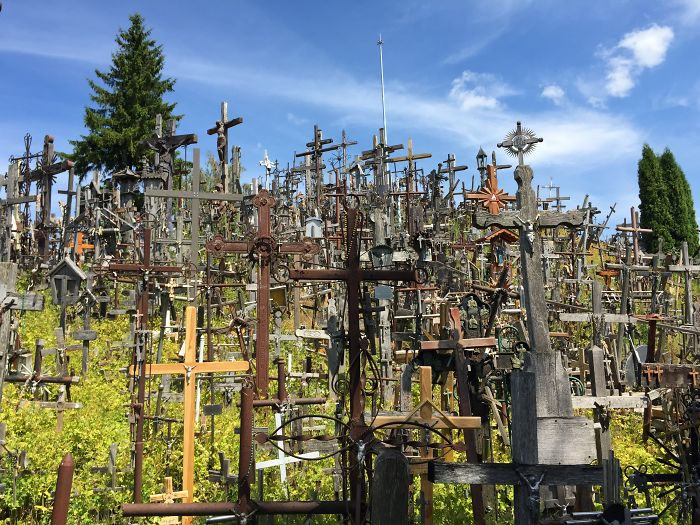 Hill Of Hundreds & Thousands Of Crosses